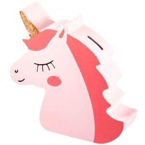 Купить Копилка Русские подарки 138838 Единорог 18*18*5 см цвет розовый