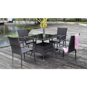 Купить Обеденный комплект ЭкоДизайн LUC-76 (стол и 4 кресла)