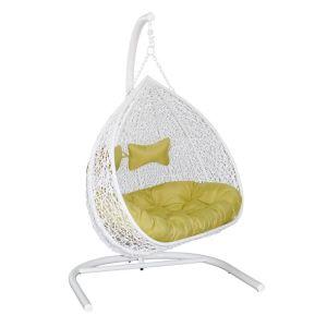 Купить Подвесное кресло ЭкоДизайн Y0070 Gemini для двоих цвет белый