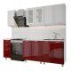 Кухонный гарнитур BTS Люкс Монро 2 м модульная цвет рубин/белый глянец