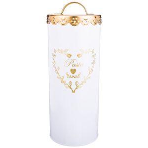 Купить Емкость для хранения Арти М 790-138 Спагетти 27*11 см цвет белый/золотой