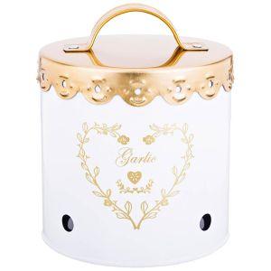 Купить Емкость для хранения Арти М 790-140 Чеснок 11*11 см цвет белый/золотой