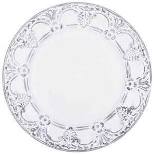 Купить Тарелка декоративная Арти М 505-072 33*33*2,5 см цвет белый/серый