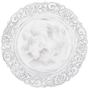 Купить Тарелка декоративная Арти М 505-073 36*36*2,5 см цвет белый/серый