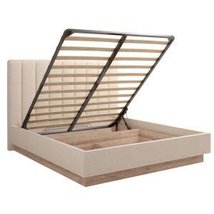 Купить Кровать Комфорт-S М9 160*200 с подъемным механизмом Богуслава цвет дуб баррик светлый/крем брюле