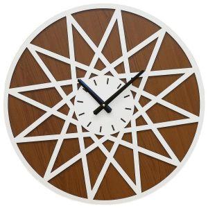 Купить Настенные часы Авангард HR 12-12 50*50 цвет белый/коричневый