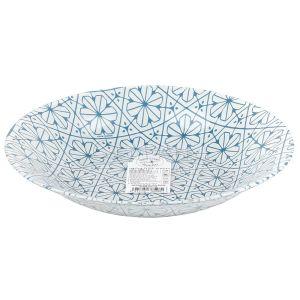 Купить Тарелка s3 Bormioli Rocco Maiolica blue суповая 23 см цвет белый/синий