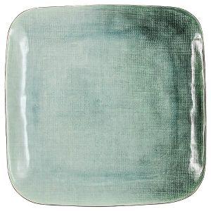 Купить Тарелка Анна Лафарг JV-HL901370 Canvas обеденная квадрат 27 см цвет серый/зелёный