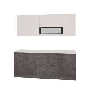 Купить Кухонный гарнитур Leko Бронкс 2.0/1 цвет кварц/бетон