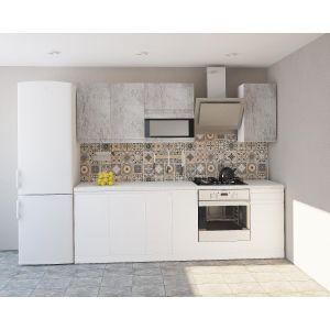 Купить Кухонный гарнитур Leko Бронкс 2.4/2 цвет доломит/кварц