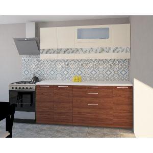 Купить Кухонный гарнитур Leko Гарда 2.0/1 цвет ваниль/вяз швейцарский