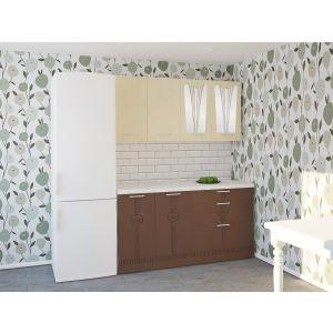 Купить Кухонный гарнитур Leko Лира 1.6/2 цвет ваниль/латте