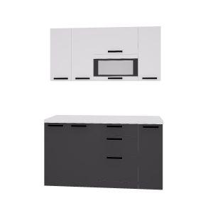 Купить Кухонный гарнитур Leko Фиджи 1.5/1 цвет белый/графит