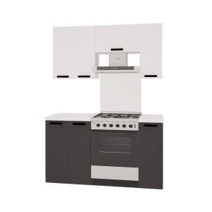 Купить Кухонный гарнитур Leko Фиджи 1.5/2 цвет белый/графит