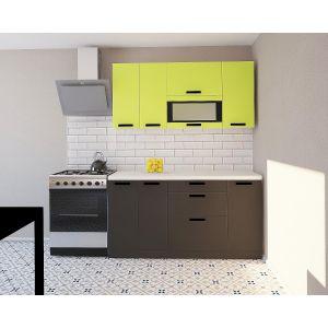 Купить Кухонный гарнитур Leko Фиджи 1.6/1 цвет лайм/графит