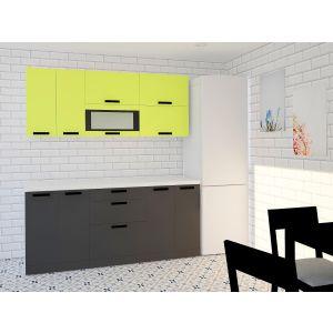 Купить Кухонный гарнитур Leko Фиджи 1.8/2 цвет лайм/графит