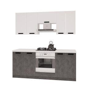 Купить Кухонный гарнитур Leko Фиджи 2.0/2 цвет белый/бетон