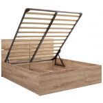 Кровать Комфорт-S М12 160*200 с подъемным механизмом Богуслава цвет дуб баррик светлый