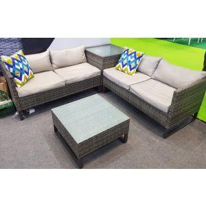 Купить Комплект мебели ЭкоДизайн для отдыха (кофейный стол + стол + 2 дивана) LUC-W180713C