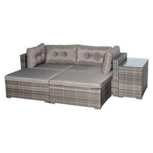 Купить Комплект мебели ЭкоДизайн для отдыха (стол + 2 кресла + 2 оттомана) LUC-WK10