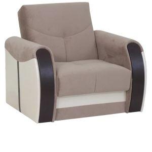 Купить Набор мягкой мебели АСМ-Элегант Сиеста-4 (диван + кресло + пуф) цвет noyz10/ideal 302/экотекс 213