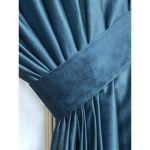 Шторы АРИЯ Versus (41) 200*270 с подхватом цвет синий