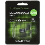 Карта памяти Qumo MicroSDHC 32GB Сlass 10 (QM32GMICSDHC10NA)