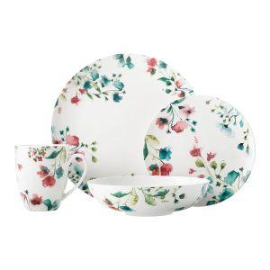 Купить Столовый набор Анна Лафарг MW504-FX0218 на 4 персоны (16 предметов) Primavera цвет белый/розовый/бирюзовый