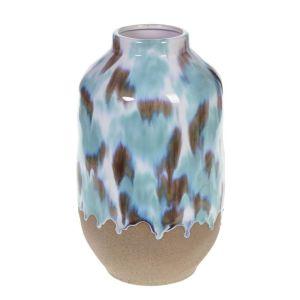 Купить Ваза РЕМЕКО 270176 17*17*33 см цвет голубой/бежевый