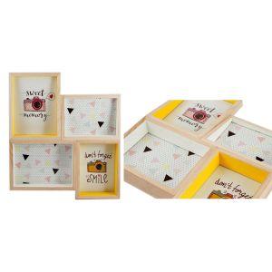 Купить Фоторамка Русские подарки 29823 Яркость для 4 фото 36*5*41 см цвет натуральный/жёлтый