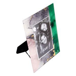 Купить Фоторамка Русские подарки 79227 18*2*23 см для фото 10*15 см цвет зелёный/серый