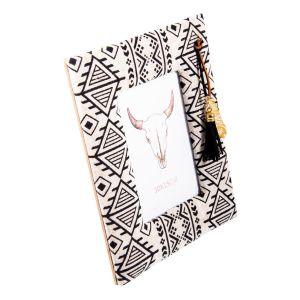 Купить Фоторамка Русские подарки 81324 23*2*18 см для фото 10*15 см цвет чёрный/белый
