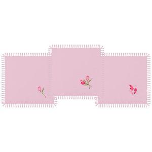 Купить Набор салфеток Арти М 850-517-16 (3 шт.) 40*40 Тюльпаны цвет розовый