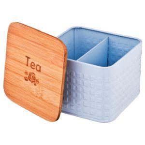 Купить Банка для продуктов Арти М 790-153 для чайных пакетиков 11*11*7 см цвет дерево/белый