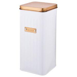 Купить Банка для продуктов Арти М 790-157 Спагетти 11,5*11,5*27 см цвет белый/золотой