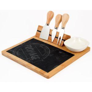 Купить Набор посуды Русские подарки 211028 (5 предметов) Гурман цвет дерево/графит