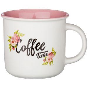 Купить Кружка Арти М 260-478 400 мл цвет белый/розовый