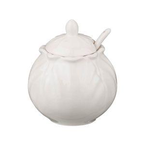 Купить Сахарница Арти М 599-224 с ложкой 300 мл цвет кремовый