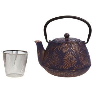 Купить Чайник заварочный Арти М 734-023 1200 мл цвет синий/бронза