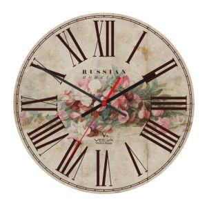 Купить Настенные часы Авангард Вега А1-3 Винтаж цвет бежевый/коричневый