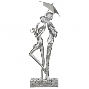 Купить Статуэтка Арти М 272-224 Ар-Нуво Пара 15*11*44 см цвет серебро