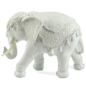 Купить Статуэтка Русские подарки 26152 Слон 25*11*19 см цвет белый