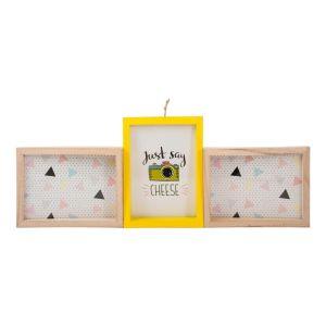 Купить Фоторамка Русские подарки 29825 Яркость 54*20 см для 3 фото цвет натуральный/жёлтый