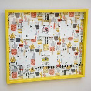 Купить Фоторамка Русские подарки 29826 держатель-панно Яркость 47*41 см цвет жёлтый