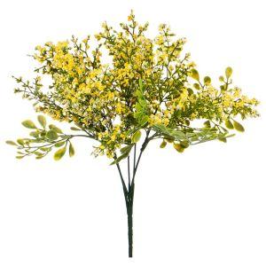 Купить Цветок искусственный Арти М 25-617 10*10*30 см цвет зелёный/жёлтый