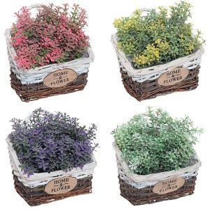 Купить Цветок искусственный РЕМЕКО 699369 в горшке 17 см