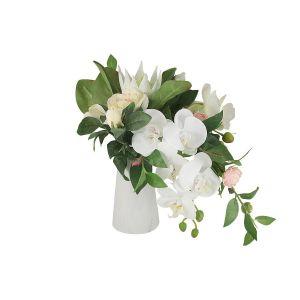 Купить Цветочная композиция Анна Лафарг DG-B1701 Букет орхидея белая и гортензии в вазе