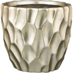 Купить Кашпо Арти М 112-378 Золотые блики 11,5*11,5*10 см цвет золото