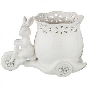 Купить Кашпо Арти М 791-079 Кролик 26,5*16*17,5 см цвет белый