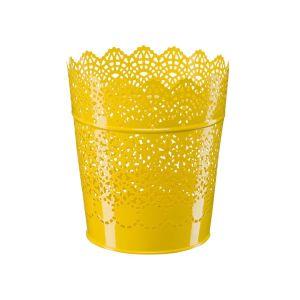 Купить Кашпо Магамакс А062 15,2*11,6*17 см цвет жёлтый